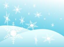 Flakes. Illustration of flakes, blue, snow Royalty Free Stock Photo