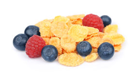 Flakes with  berries Royalty Free Stock Images