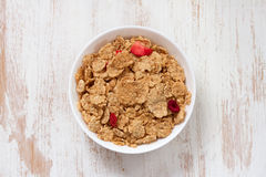Flakes in bowl Royalty Free Stock Image