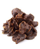 Flakes in chocolate Royalty Free Stock Photos