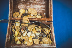 Flakes with dried fruits Royalty Free Stock Photo