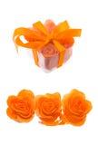 flakes gjorde orangen rose tvål arkivfoto