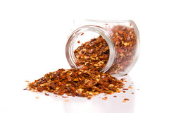 flakes pepprar red royaltyfri fotografi