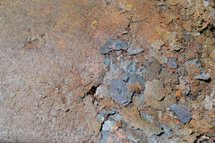 Flakes of rust on a sheet of rusty iron. Background of rust. Corrosion of metal Stock Image