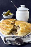 Flakey savoury lattice pie Stock Photography
