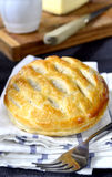 Flakey savoury lattice pie Stock Photos