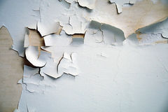 Flaking cracked paint Royalty Free Stock Photo