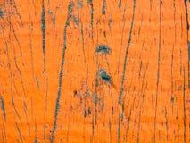 Flaking paint on aged wood Stock Photo