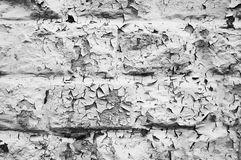 Flaking Paint #4. Flaking paint on building blocks creates an abstract pattern stock photo