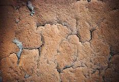 Flaking plaster layer Stock Image