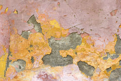 Flaking plaster and paint Royalty Free Stock Image