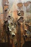 Flaking rust on a metal tank Stock Photo