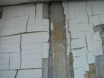 Flaking White Paint On A Wooden Barn Royalty Free Stock Photo