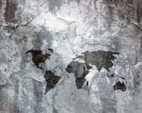 Flaking world map Royalty Free Stock Photography