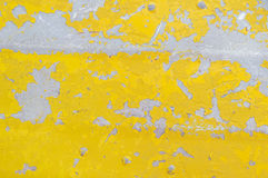 Flaking Yellow Paint Background Stock Photo