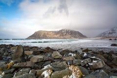 Flakstad Beach, Lofoten, Norway Stock Photo