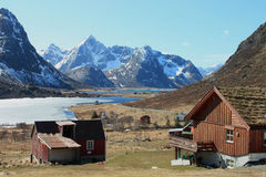 Flakstad's spring Landscape Stock Photography