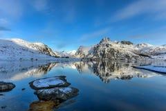 Flakstadoya, isole di Lofoten, Norvegia fotografie stock libere da diritti