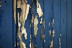Flaky blue paint Stock Images