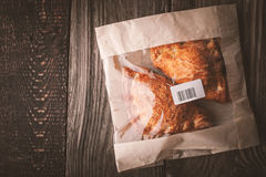 Flaky buns in a package top view Stock Images