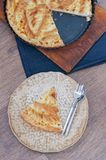 Flaky Cottage Cheese Pie Crust Stock Image