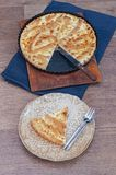 Flaky Cottage Cheese Pie Crust Royalty Free Stock Photo