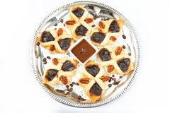 Flaky croissant. Freshly baked flaky croissant with coffee and chokolade Stock Photo