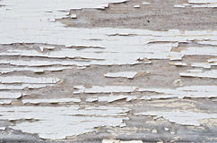 Flaky paint on the wood Stock Images