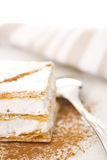 Flaky pastry filled of Meringue. Puff pastry filled of meringue with cinnamon royalty free stock images