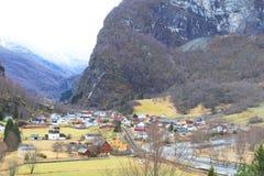 Flam的,挪威村庄 库存图片