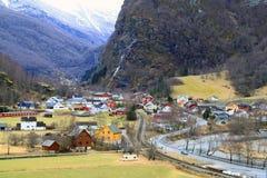 Flam的,挪威村庄 图库摄影