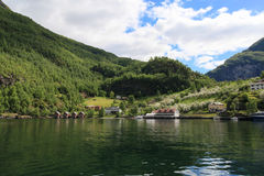 Flam. A city on the fjord in Norway Royalty Free Stock Photography