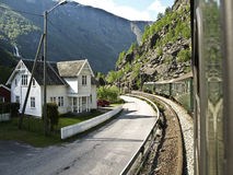 Flam fiord railway tour, Norway Royalty Free Stock Images