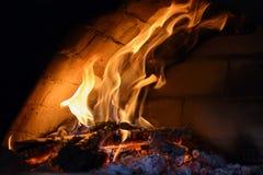 Flam in forno della pizza Fotografia Stock Libera da Diritti