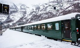 Flam järnväg Fotografering för Bildbyråer