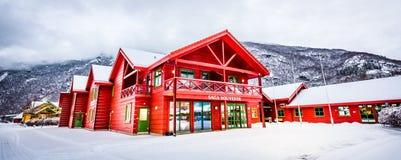 Flam järnväg i Norge royaltyfri foto