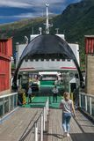 Ferry boat in Flam, Norway stock photo