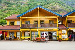 Flam at Sognefjord, Norway Stock Image