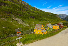 Flam in Norway. Nature and travel background Royalty Free Stock Photo