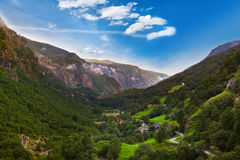 Flam in Norway. Nature and travel background Royalty Free Stock Images
