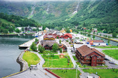 Flam - Norway town Stock Photography