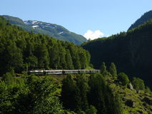 Flam railway. Norway. Railway between Flam and Myrdal. Norway 2005 Stock Images
