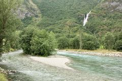 Flam River Royalty Free Stock Image