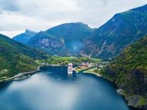 Flam in Sognefjord, Noorwegen royalty-vrije stock foto's