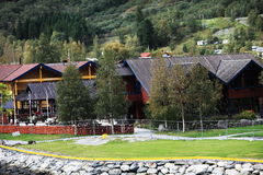Flam valley Norway. Small  Flam valley in Norway Stock Image
