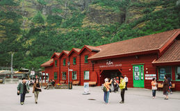 Flam Village In Norway. Wooden Guest House Royalty Free Stock Photography