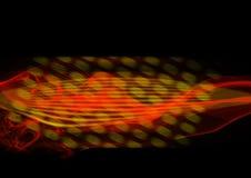 Flama abstrata amarela e vermelha Imagens de Stock Royalty Free