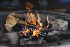 Flama ardente Imagens de Stock Royalty Free