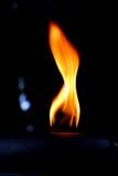 Flama ardente Fotografia de Stock Royalty Free