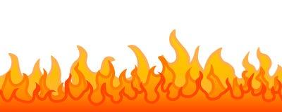 Flama ardente do incêndio ilustração stock